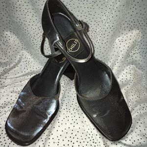 EUC 90's Inspired Chili's Shimmer Pewter Heels